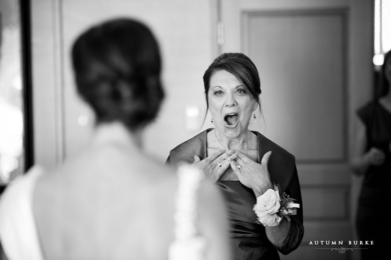 mother of the bride reaction denver country club wedding