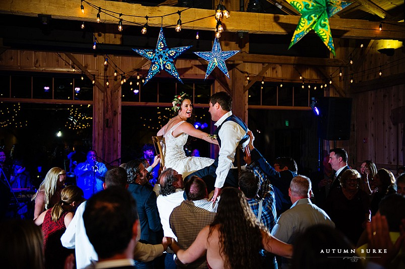 devils thumb ranch wedding reception dance the hora