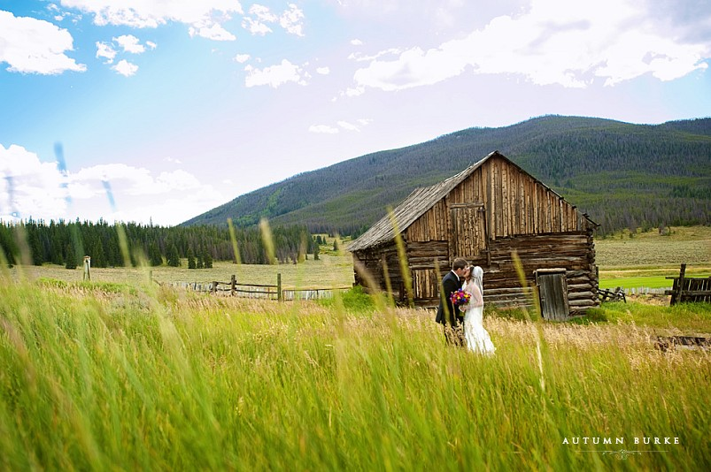 keystone ranch wedding colorado mountain bride and groom first look
