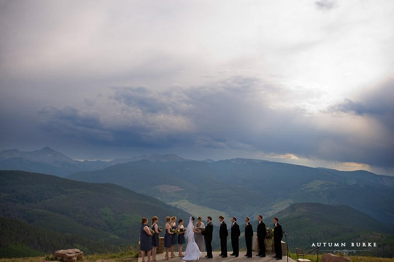vail colorado wedding deck ceremony mountain