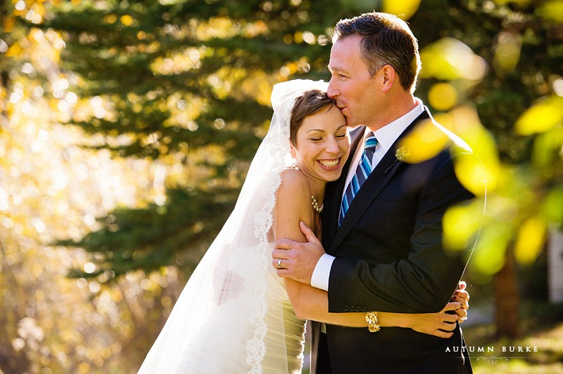 sonnenalp vail colorado mountain wedding bride and groom
