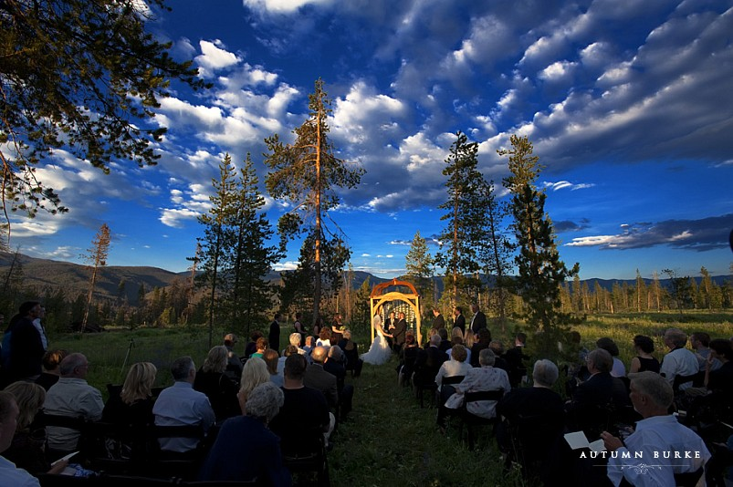 wild horse inn winter park colorado mountain wedding ceremony tabernash