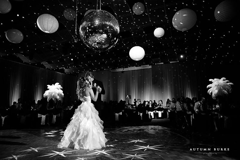 seawell ballroom dcpa wedding denver center for performing arts colorado first dance bride and groom