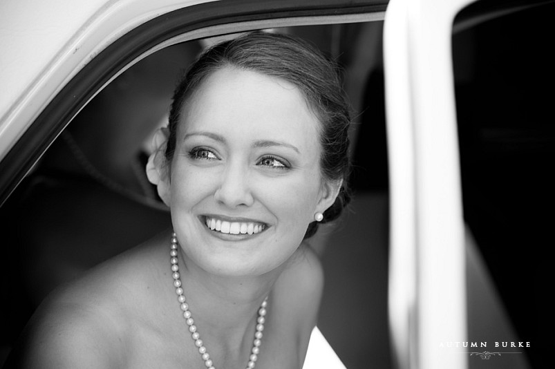 arrowhead golf club colorado wedding classic bride in limo