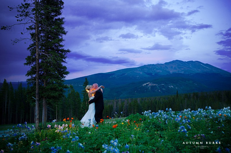 ten mile station breckenridge colorado mountain wedding bride and groom