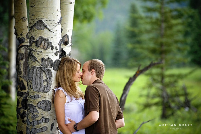 colorado mountain engagement session aspen